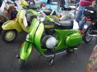 Lime Green Vespa'